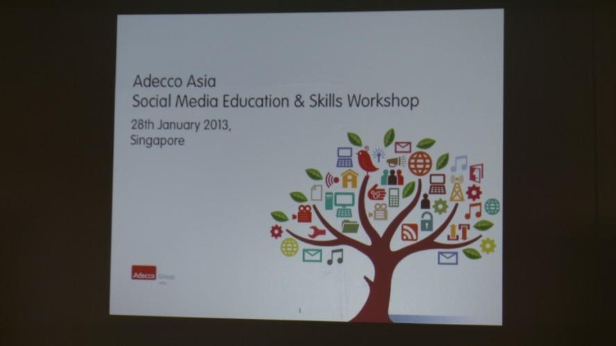 Adecco Asia Social Media Education & Skill Workshop